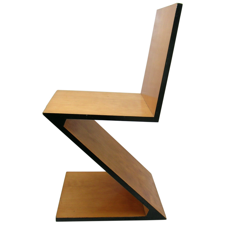 Gerrit thomas rietveld designer do movimento de stijl for Design stuhl zig zag