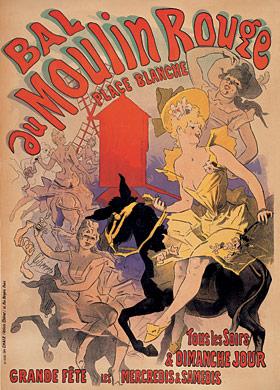 Jules Chéret, Bal du Moulin Rouge, 1889