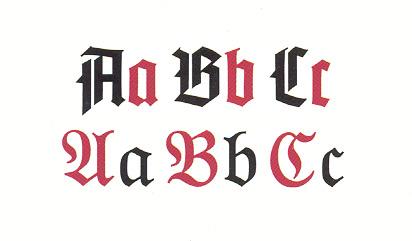 Tipos de letras abecedario goticas - Imagui