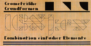 Schablonenschrift, 1923-1926, Josef Albers